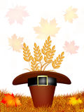 Thanksgiving postcard Royalty Free Stock Images