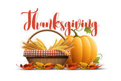 Thanksgiving Poster Design Stock Photography