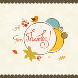 Thanksgiving poster for thanksgiving day celebration. Royalty Free Stock Images
