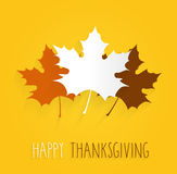 Thanksgiving poster on yellow background. Handwritten text Royalty Free Stock Images