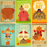 Thanksgiving Posters Set Royalty Free Stock Images