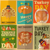 Thanksgiving Posters Set Royalty Free Stock Photography