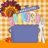 Thanksgiving Potluck Art Invitation Poster Flyer