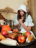 Thanksgiving prayer royalty free stock photography