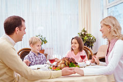 Thanksgiving prayer for big family Royalty Free Stock Photography