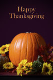 Thanksgiving Pumpkin Centerpiece Royalty Free Stock Photo