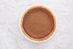 Thanksgiving pumpkin pie fresh from the oven Royalty Free Stock Image