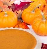 Thanksgiving Pumpkin Pie Stock Photos
