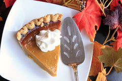 Thanksgiving pumpkin pie slice Stock Photography