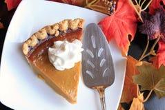 Thanksgiving pumpkin pie slice stock photography