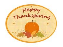 Thanksgiving Pumpkin Sign Stock Image