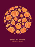 Thanksgiving pumpkins circle decor pattern Stock Photography
