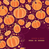Thanksgiving pumpkins corner decor pattern Stock Photography