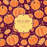 Thanksgiving pumpkins frame seamless pattern Royalty Free Stock Photo