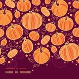 Thanksgiving pumpkins horizontal border seamless Stock Photos