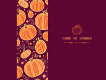 Thanksgiving pumpkins horizontal frame seamless Royalty Free Stock Images