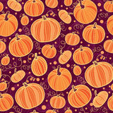 Thanksgiving pumpkins seamless pattern background Royalty Free Stock Photos