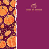 Thanksgiving pumpkins square torn seamless pattern Stock Photo
