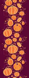 Thanksgiving pumpkins vertical border seamless Stock Image