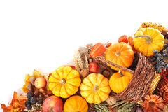 Thanksgiving  in rattan basket Royalty Free Stock Images