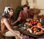 Thanksgiving reenactment royalty free stock image
