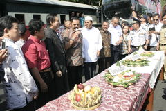 Thanksgiving Residents On election of the President of Indonesia Joko Widodo Stock Photography