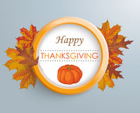 Thanksgiving Ring Pumpkin Foliage Stock Photography