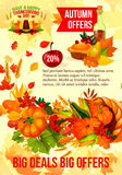 Thanksgiving sale banner of autumn discount offer Royalty Free Stock Photo