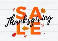 Thanksgiving autumn sale banner discount September shopping promo   Stock Image