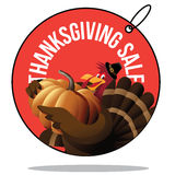 Thanksgiving sale turkey tag. EPS 10 vector illustration Royalty Free Stock Photos