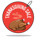 Thanksgiving sale turkey tag Stock Image