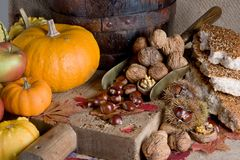 Thanksgiving scene Royalty Free Stock Photography
