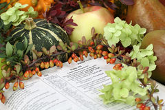 Thanksgiving Scripture Royalty Free Stock Photo