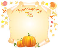 Thanksgiving scroll stock image