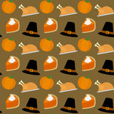 Thanksgiving Seamless Pattern. A colorful Thanksgiving or autumn seamless background, useful also as design element for texture, pattern or giftwrap. Eps file vector illustration