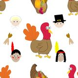 Thanksgiving seamless pattern background Stock Photography
