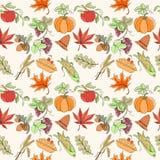 Thanksgiving seamless pattern Stock Photography
