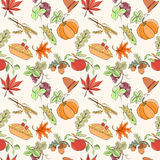Thanksgiving seamless pattern Stock Images
