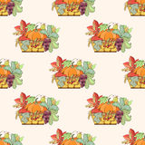 Thanksgiving seamless pattern Royalty Free Stock Photography