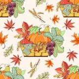 Thanksgiving seamless pattern Stock Photo