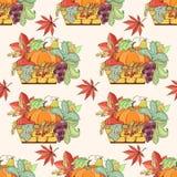 Thanksgiving seamless pattern Stock Image