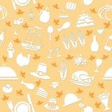 Thanksgiving Seamless Pattern Stock Photos