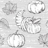 Thanksgiving seamless pattern Royalty Free Stock Photo