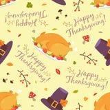 Thanksgiving seamless pattern stock illustration