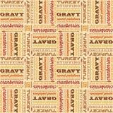 Thanksgiving seamless typographic design Stock Image