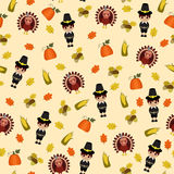 Thanksgiving seamless wallpaper Royalty Free Stock Photography
