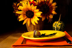 Thanksgiving serving table Stock Photos