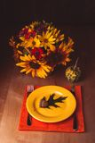 Thanksgiving serving table Stock Image