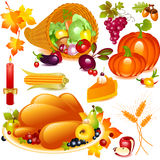 Thanksgiving set Stock Photo