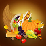 Thanksgiving Set Royalty Free Stock Photo